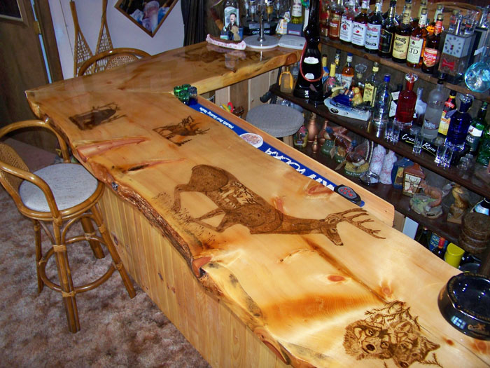 Superieur These Custom Live Edge Bar Tops Will Be The Focal Point Of Your Bar Room Or  Man Cave! Each Bar Top Is Unique, Gorgeous And Well Protected With Multiple  ...